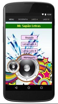 Mc Sapão Letras poster