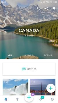 Canada Travel Guide in English with map poster