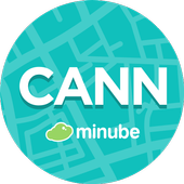 Cannes Travel Guide in English with map icon