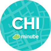 Chicago Travel Guide in English with map icon