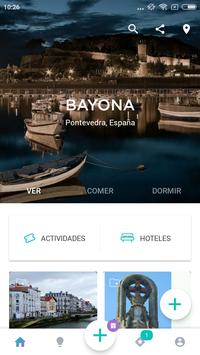 Baiona Travel Guide in English with map poster
