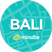 Bali Travel Guide in English with map icon