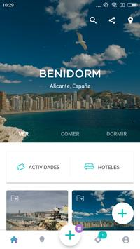 Benidorm Travel Guide in English with map poster