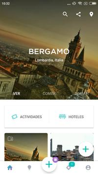 Bergamo Travel Guide in English with map poster