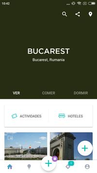 Bucharest Travel Guide in English with map poster