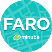 Faro Travel Guide in English with map icon