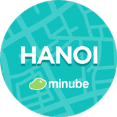 Hanoi Travel Guide in English with map icon