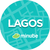Lagos Travel Guide in English with map icon
