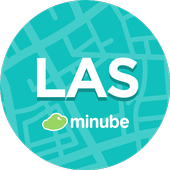 Las Vegas Travel Guide in English with map icon