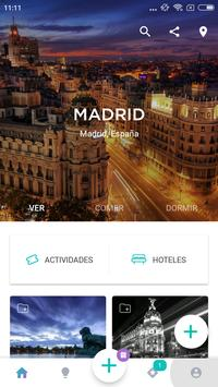 Madrid Travel Guide in English with map poster