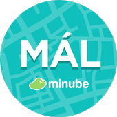 Malaga Travel Guide in English with map icon