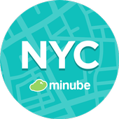 New York Travel Guide in English with map icon