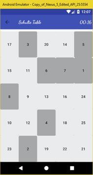 Shulte Table screenshot 1