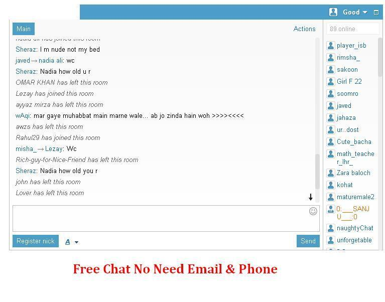 Free chat room no need register