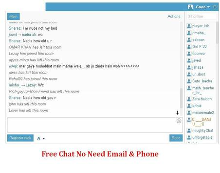 free chat room no registration and download