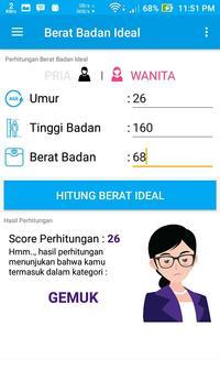 Berat Badan Ideal screenshot 1