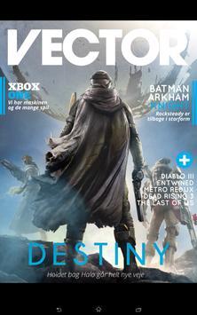 Vector magazine poster