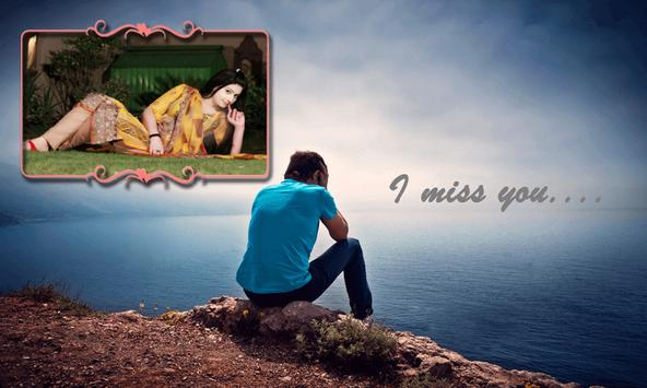 miss you photo frames poster - Miss You Picture Frames