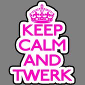 Keep calm and twerk icon
