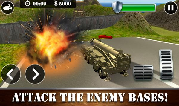 Missile Attack Army Truck screenshot 2