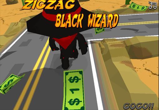 Zig Zag Black Wizard poster