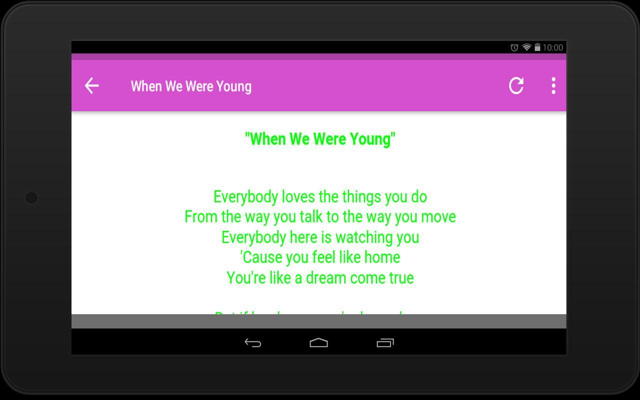 Adele Lyrics APK
