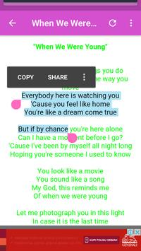 Adele Lyrics apk screenshot