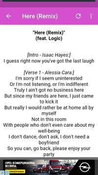 Alessia Cara Lyrics screenshot 1