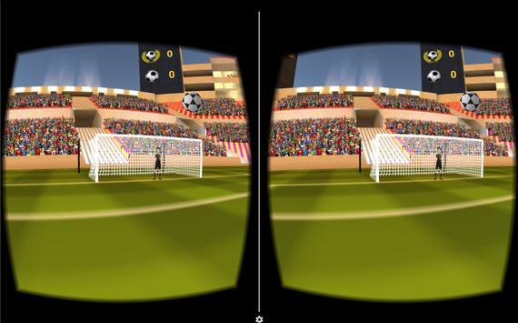 VR Soccer Header for Cardboard poster