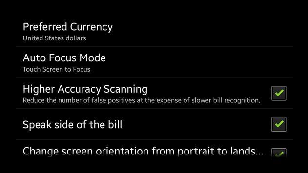 Blind-Droid Wallet — JPY apk screenshot