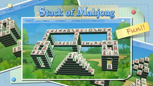Stack of Mahjong poster