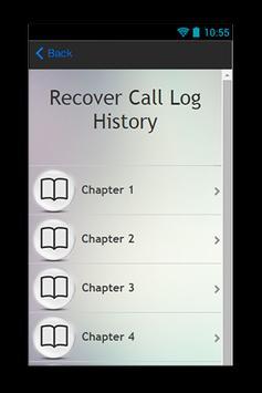 Recover Call Log History Guide screenshot 1