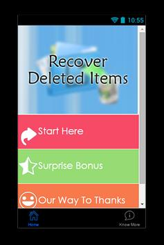 Recover Deleted Items Guide poster