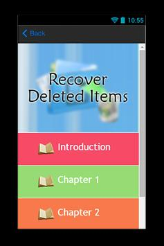 Recover Deleted Items Guide screenshot 1