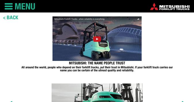 Mitsubishi Forklift Trucks apk screenshot