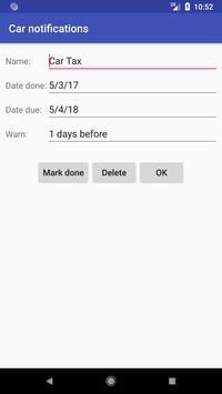 Car Notifications screenshot 1