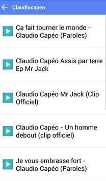 CLAUDIOCAPEO MUSICA SONGS apk screenshot