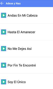 ADEXE Y NAU MUSICA SONGS screenshot 1