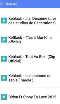KEBLACK MUSICA SONGS screenshot 2
