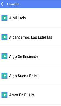 LEONETTA MUSICA SONGS screenshot 1