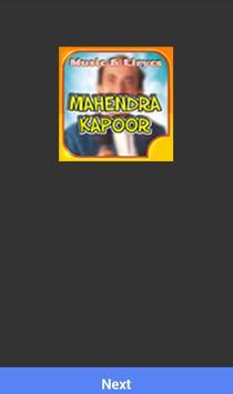 MAHENDRA KAPOOR MUSICA SONGS poster