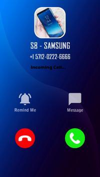 Fake call s8 screenshot 4