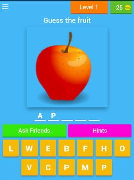 Guess the Fruits Name apk screenshot
