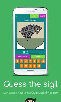 Guess the Game of Thrones sigil poster