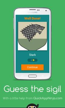 Guess the Game of Thrones sigil apk screenshot