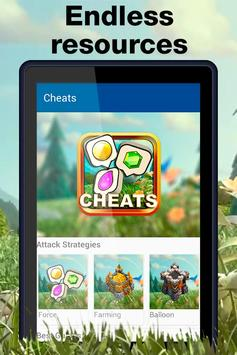 Game Cheats for Clash of Clans apk screenshot
