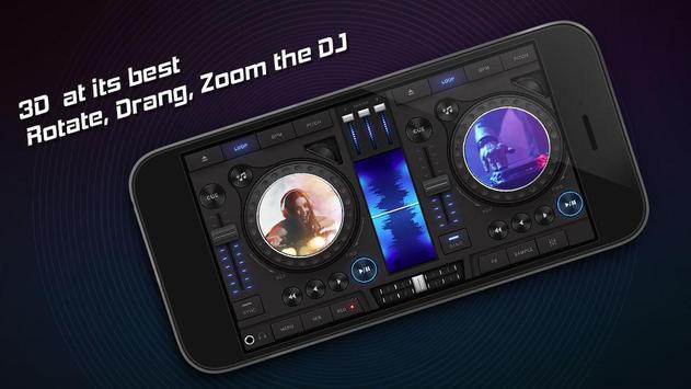 3D DJ Mixer Poster