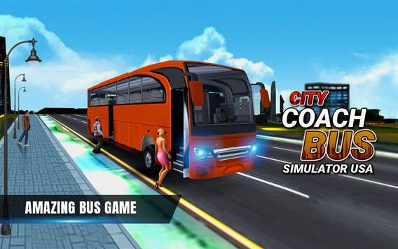 City Coach Bus Simulator 17 - Real Parking Test 3D poster