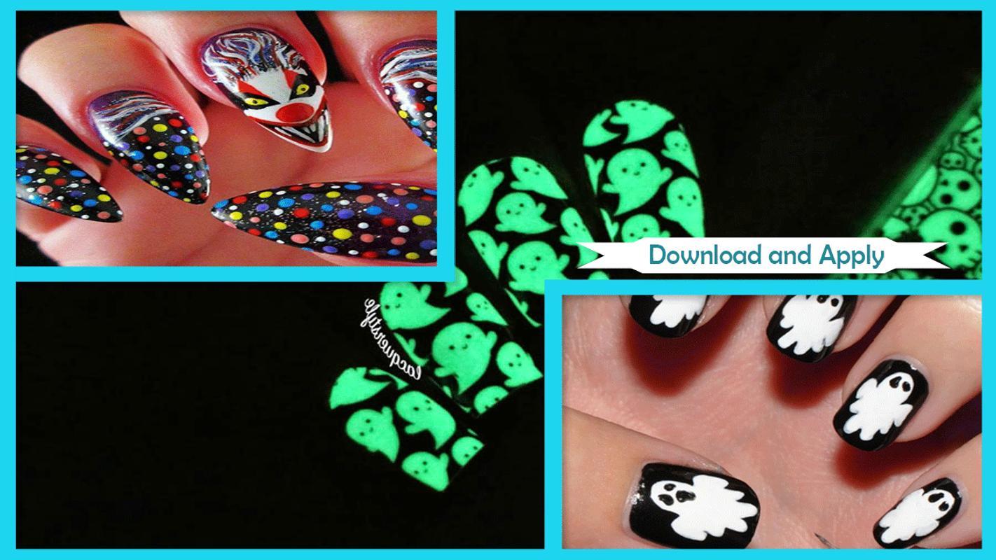 Fine Glow In The Dark Halloween Nails Photos - Nail Art Design Ideas ...