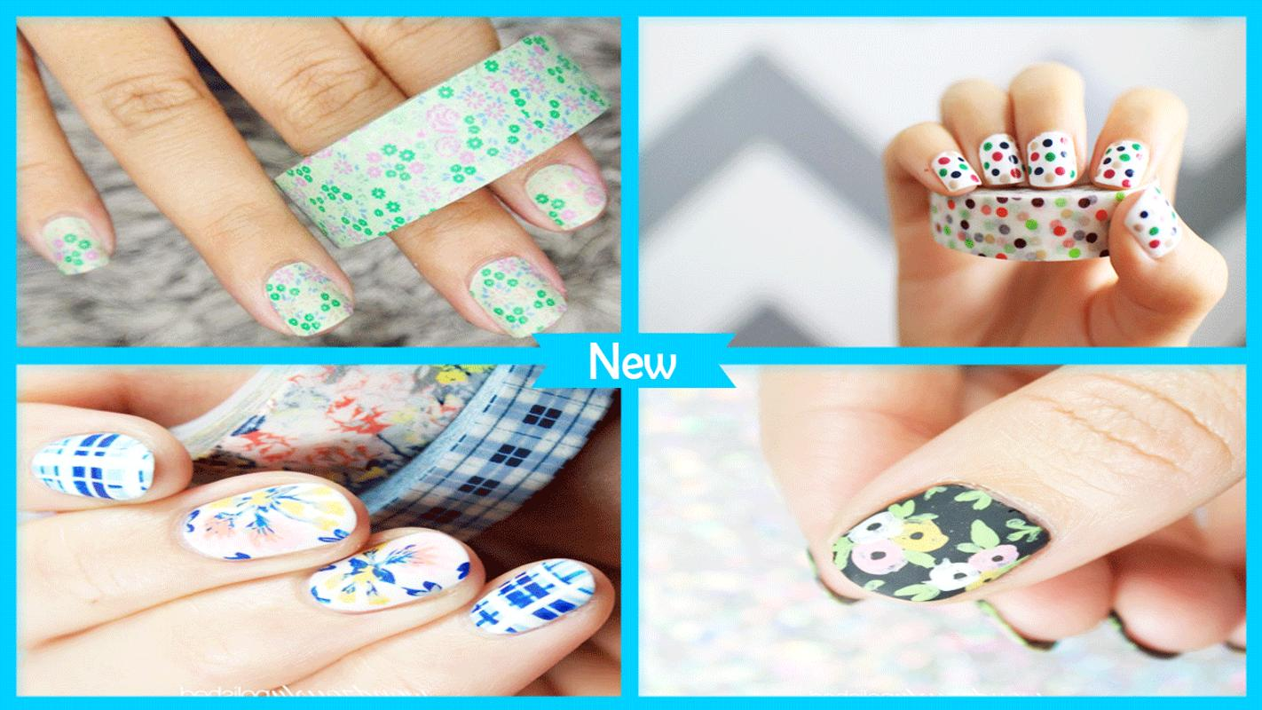 Pretty Washi Tape Nail Art For Android Apk Download